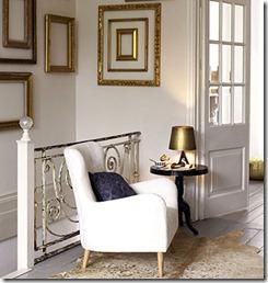 interjera dizains zelta toņos