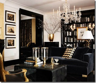 interjera dizains zelta krāsās