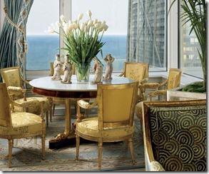 interjera dizains zeltītos toņos