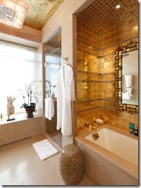 zelts vannas istabā
