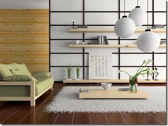 japāņu stila interjers