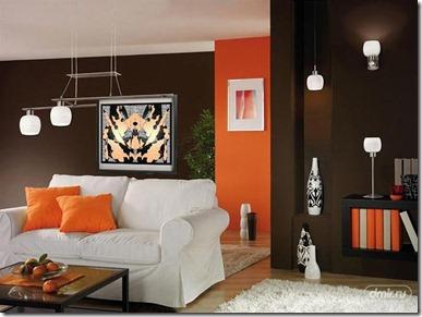 oranžā krāsa interjerā