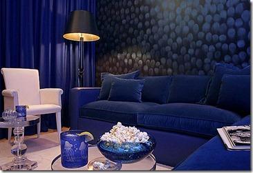 zila krāsa interjerā