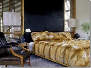 kažokādas pārklājs gultai