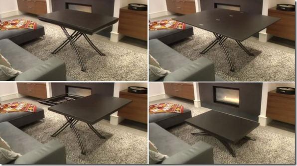 transformējams galds istabai