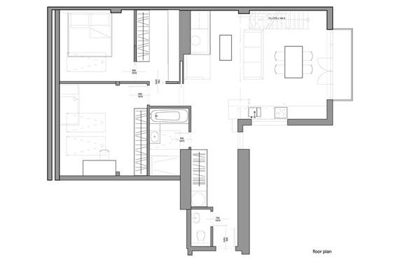 dzīvokļa plāns mansarda dzīvoklim