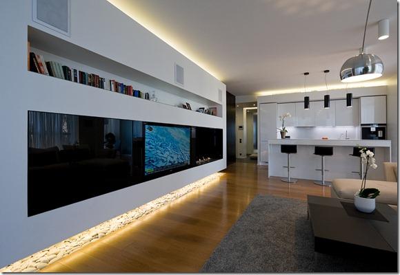 led apgaismojums dzīvoklī