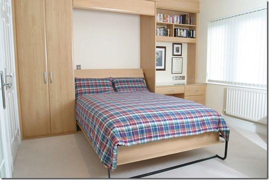 iebūvētas gultas