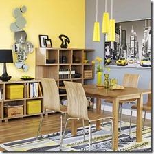 dzeltens interjers telpai