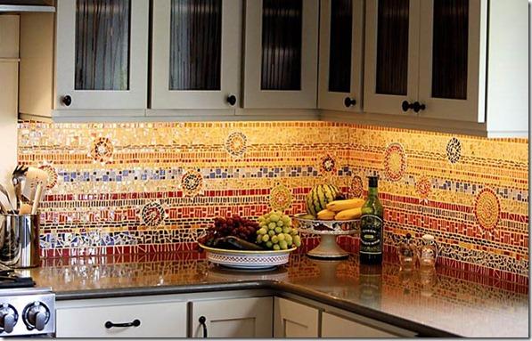mozaīkas virtuvē