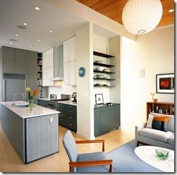 telpas zonējums virtuve ar viesistabu