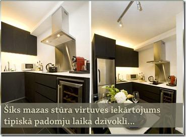 stūra virtuves dizains
